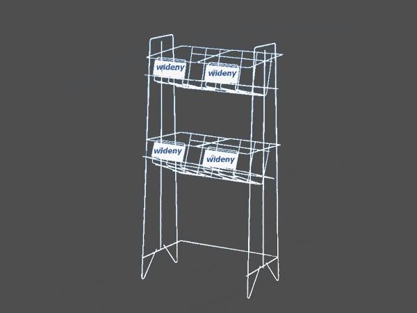 2 tiers magazine display rack