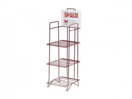 3 tiers red newspaper display rack