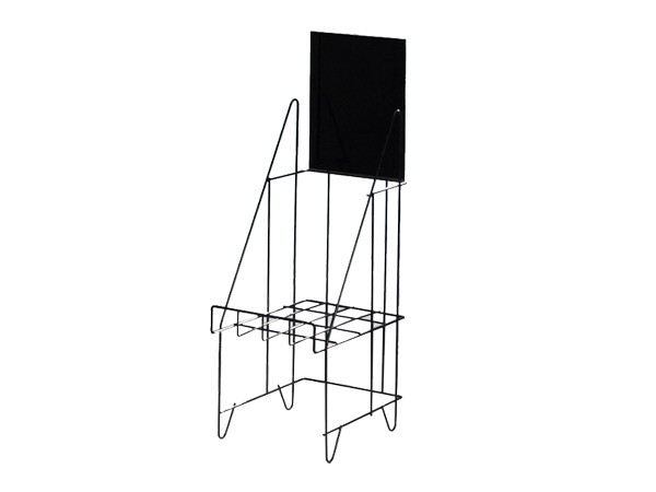 single tier book display rack