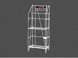 OEM 2 Tier White Metal Retail Display Rack with reasonable price