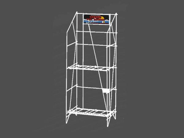 OEM 2 Tier White Metal Retail Display Rack with reasonable price