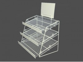 Powder Coated Custom-made Metal Retail bread display rack