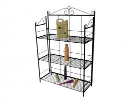 Household Hotel Customized Black Metal Shampoo Display Rack