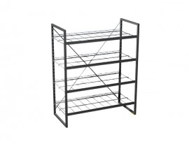 Durable OEM Design Wire Metal Shoes Display Rack for supermarket