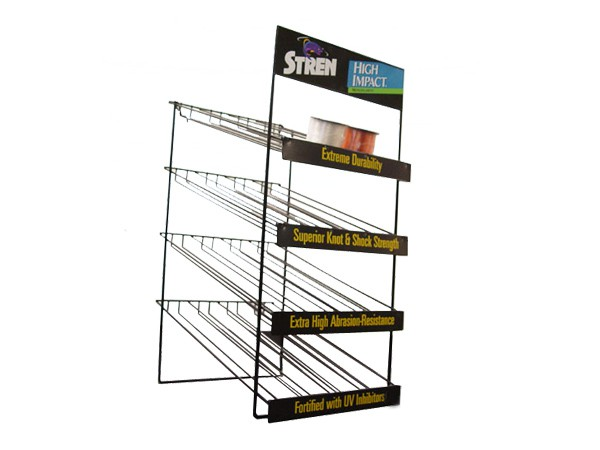 Shopping Mall Floor Standing Wire Metal Snack Food Display Shelf