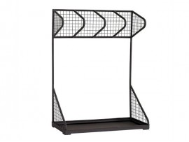 Black Wire Metal Supermarket Display Stand