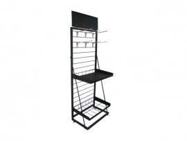 Best Selling Black Metal Display Shelf for department store