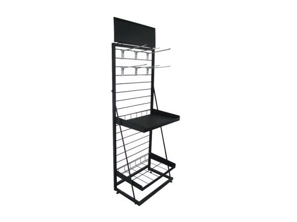 Best Selling Black Metal Display Shelf for department store