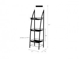 Powder Coated Metal Wire Retail Display Shelf with competitive price