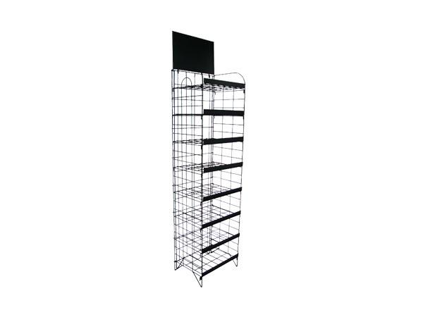 Supermarket Flooring Stand 8 Tiers Foldable Display Shelf
