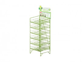 Hot Sale Best Price Colorful Metal cosmetic display shelf