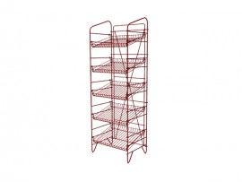 Floor Standing Powder Coated Faashion Metal 5 Tier Display Shelf