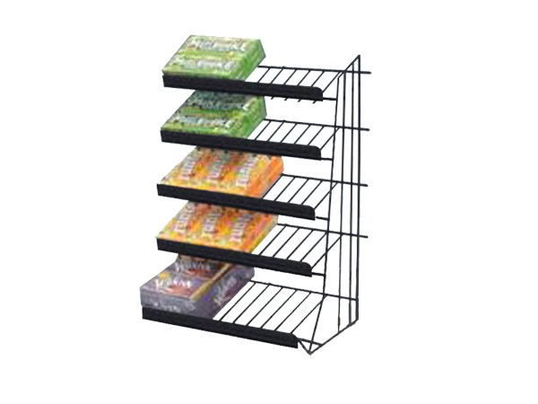 Powder coated top quality wire metal chewing gum display rack