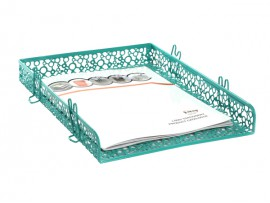 Double level wire document holder