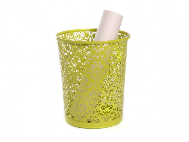 Embossing powder coated waste bin