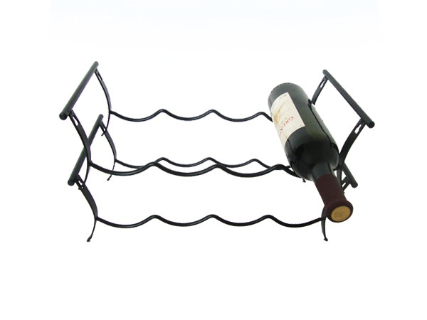 Two tiers metal counter wine rack