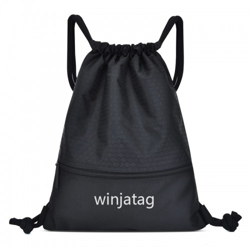Winjatag hot sale waterproof simple and elegant design drawstring backpack bag