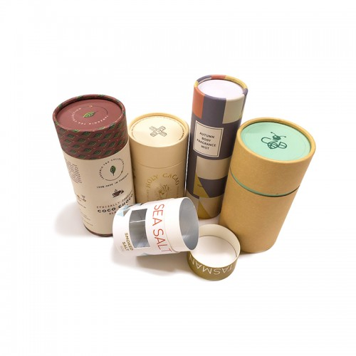 2019 Customized Cardboard Paper Kraft Tube Packaging Box
