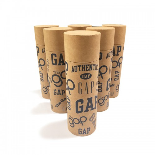 2019 GAP Custom logo paper kraft tube packaging box for cups