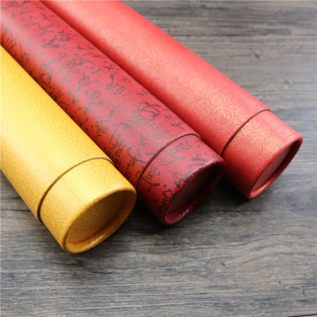 2019 OEM cardboard cylinder round tube box cosmetic paper tube packaging