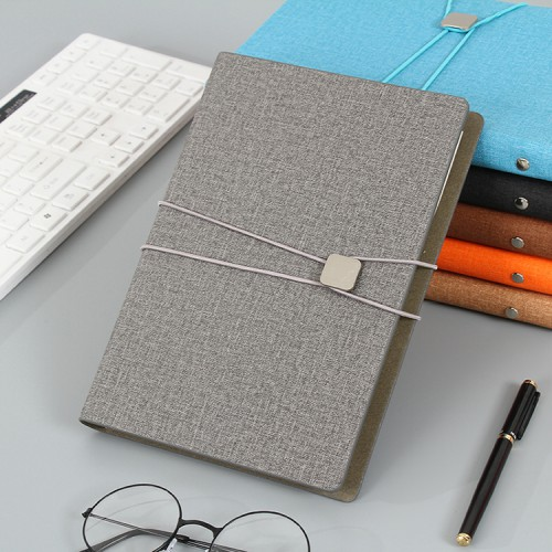 2019 Handmade Custom Logo Printed A4 A5 A6 Canvas Fabric Cover Journal Notebook