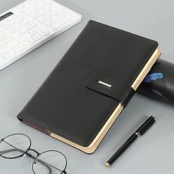 2019 Luxury Business Custom Logo Printed Brown PU Leather Notebook