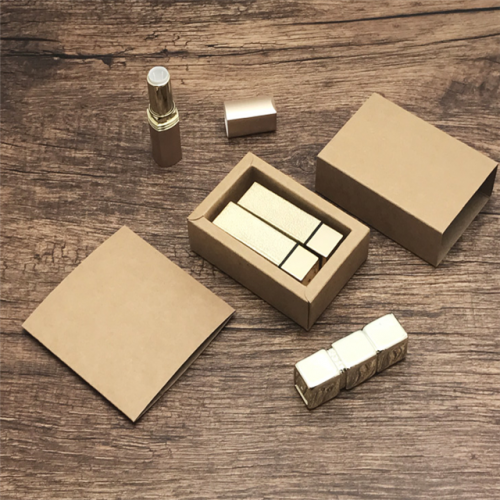 2019 Promotional cardboard drawer kraft paper small lipstick box packaging wholesale Custom design paper cosmetic box
