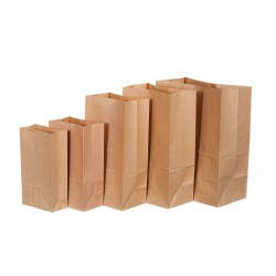 2019 color print bread packaging kraft paper bag with window