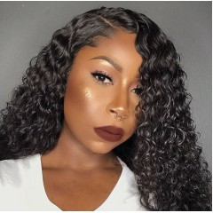 Curly Hair 150% Density Side Part 13x6 Lace Front wig