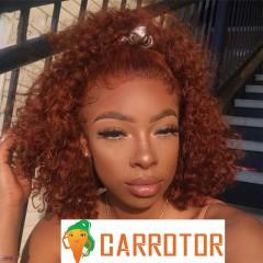 Ginger Orange Human Hair Lace Front Wigs 150% Density Deep Wave 13x4 Lace Front Human Hair Wigs PrePlucked 100% Virgin Human Hair Wigs For Black Women