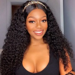 250% Density Curly 13x6 Lace Front Human Hair Wig