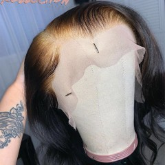 invisible Lace Wig Short Bob Straight 13x6 Lace Front Wig