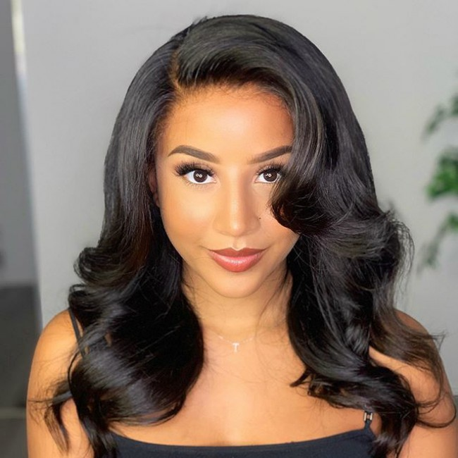 HD Lace Body Wave Side Part invisible Lace 13x6 Lace Front Wig