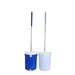 Plastic Hands-free Squeeze Flat Mop Cleaning Mop Bucket