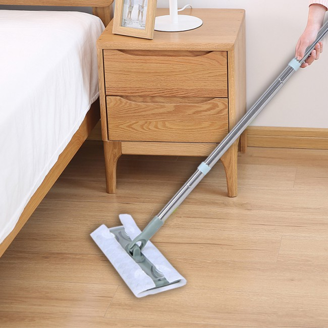 2019 Household Trend Lazy Floor Flat Mop With Disposable Non-woven Fabric Refill Wipes