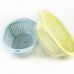 Plastic kitchen utensils 3 in 1 food fruit vegetable drainer basket and filter colander