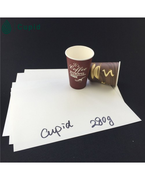 280 gsm pe coated paper cup in sheet