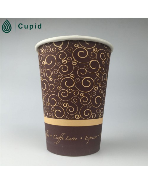 Cold drink paper cup made of double side pe coated paper.